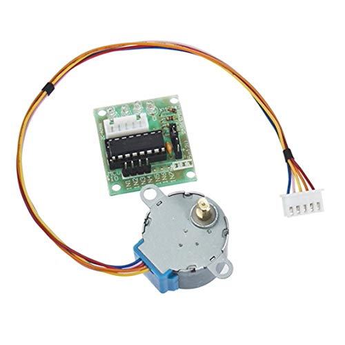 Jessicadaphne 5V Stepper Motor 28BYJ-48 With Drive Test Module Board ULN2003 5 Line 4 Phase Set