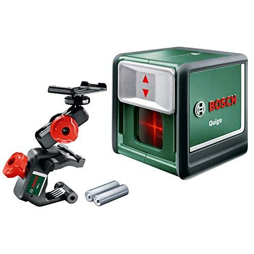 Bosch Quigo kruislijnlaser (3de generatie, reikwijdte: 10 m, in doos, rode laser).