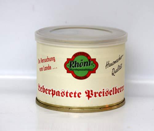 """Leberpastete """"Preiselbeere"""" Hausmacher-Qualität, 200g."""