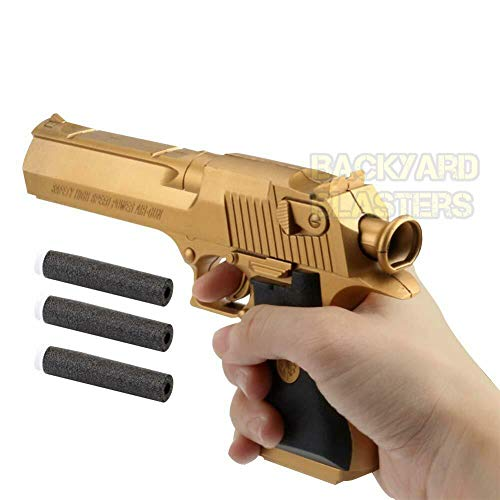 Backyard Blasters Toys Guns for Boys Golden Desert Eagle Toy Foam Dart Gun for Kids and Dart Gun Toy for Adults