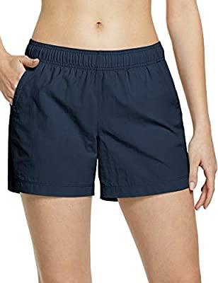 CQR Women's Hiking Shorts, Quick Dry Lightweight Travel Shorts, UPF 50+ UV/SPF Stretch Camping Shorts, Outdoor Apparel, Shorts(wxs200) - Navy, Large