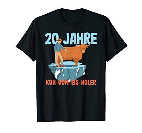 20 Jahre Kuh-Vom-Eis-Holer - Jubiläumsgeschenk T-Shirt