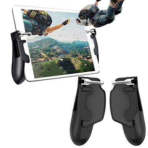 DLseego PUBG iPad Trigger, Mobile Game Controller para iPad, Gamepad con L1R1 Tiro y Aim Trigger Game para Knives out/Rules of Survival para Tablet & Smartphones.