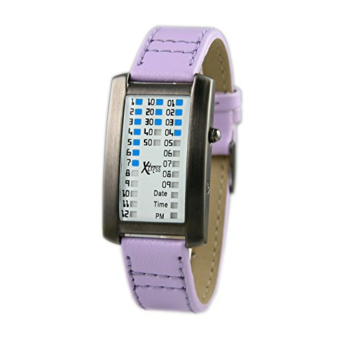 Xtress Reloj Binario para Hombre de Cuarzo con Correa en Cuero XDA1030P