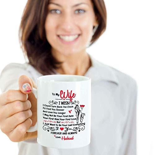 N\A A mi Esposa me gustaría Poder retroceder la Taza del Reloj cumpleaños - Taza de café