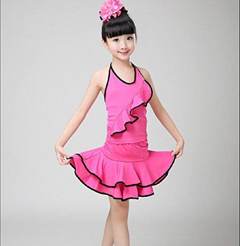 Ropa de niña y Ropa de Danza del Juego de los niños de los niños de América Teatro Vestuario/Rosa/Rojo/Negro