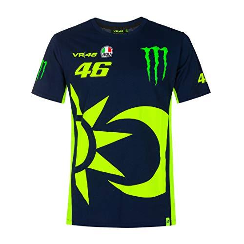 Valentino Rossi Colección Monster Dual - Camiseta para Hombre, Hombre, Camiseta, TSHIRTCMDMB, Turquesa, X-Large