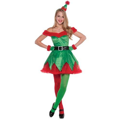Christy's Santas Little Helper Damen Fancy Kleid Elf Festive Damen Erwachsene Kostüm