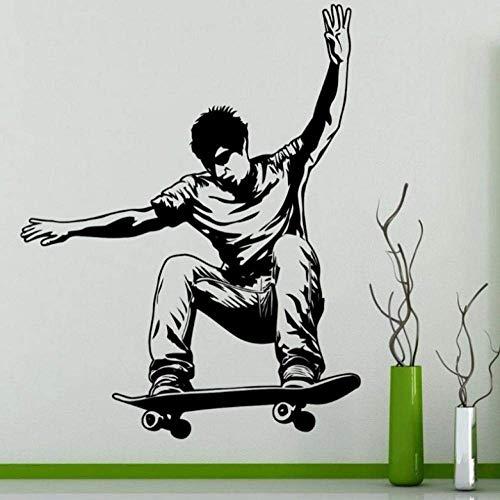 Wandaufkleber Wandbilder 45X57 Cm Skateboarding Wandaufkleber Aufkleber Skifahren Poster Vinyl Wandtattoos Dekor Wandbild Skating Auto Aufkleber Aufkleber