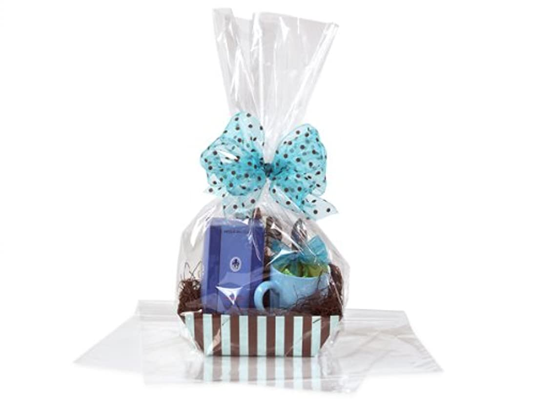 """Crystal Cello 16"""" X 24"""" 12 Bags - Cellophane Bags for Gift Basket Packaging 