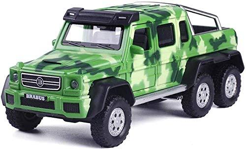 Toys Push And Go Car Model geluid en licht Model Vehicle Binnen Buiten Spelen Cadeaus for jongens Meisjes Peuter 01:32 G63Babs (Kleur: Groen) XIUYU (Color : Green)
