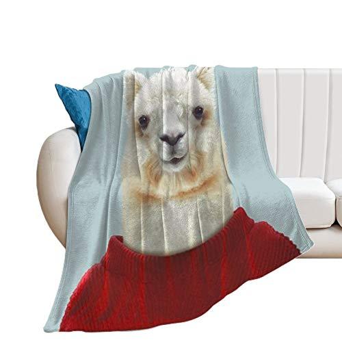 Coperta in pile di flanella, modello alpaca sir confortevole coperta per la casa per il letto divano accogliente e calda spiaggia coperta per donne uomini, 70 x 200 pollici