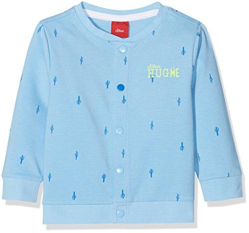 s.Oliver s.Oliver Baby-Jungen 59.806.43.4933 Sweatjacke, Blau (Blue AOP 53a3), 62