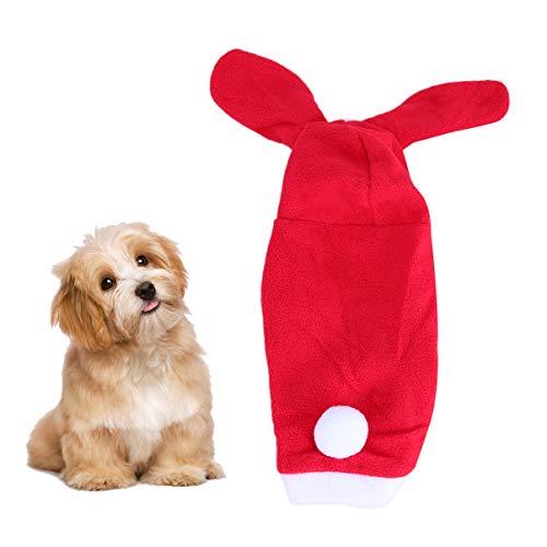 POPETPOP Abiti per Cani di Natale Aspetto di Coniglio rifacimento di Animali Domestici Cucciolo Caldo Felpe con Cappuccio Giacca per Cani Cappotto Abb