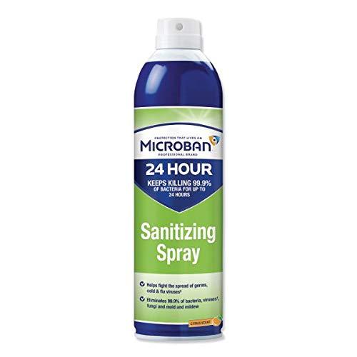 Microban 24-Hour Disinfectant Sanitizing Spray, Citrus, 15 oz Can Single