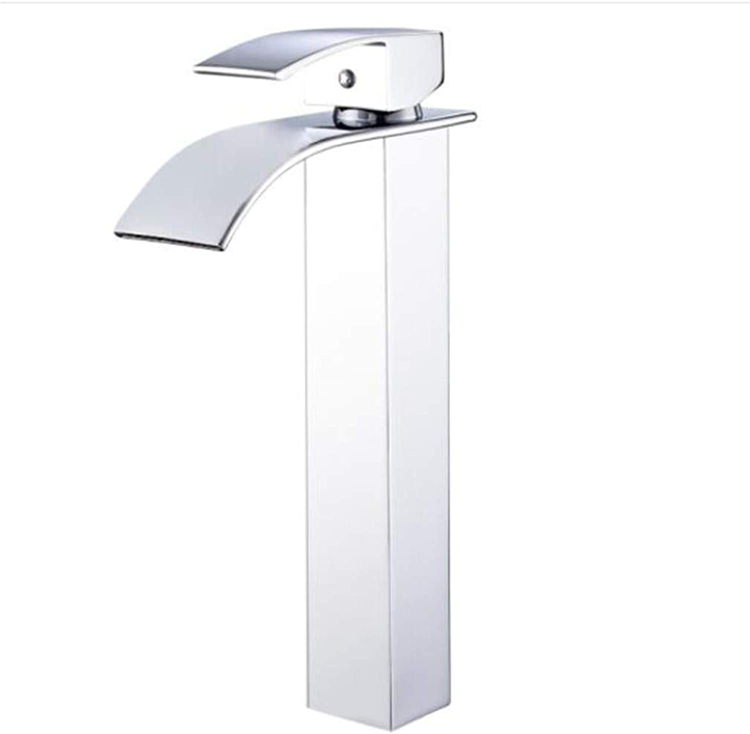 Bathroom Sink Basin Lever Mixer Tap Copper Single-Hole Basin, Hot and Cold Water Faucet, Washbasin Faucet, Bathroom Stage, Basin Faucet