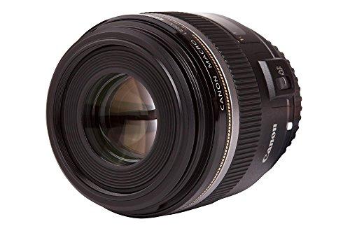 Canon Objektiv EF-S 60mm F2.8 Makro USM für EOS (Festbrennweite, 52mm Filtergewinde, Autofokus) schwarz