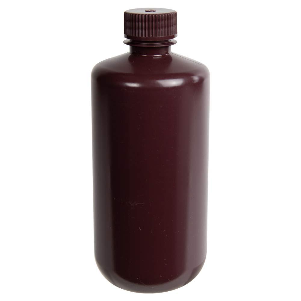 Cheap 500mL Diamond gift RealSeal Amber 2 Mouth Narrow Bottles