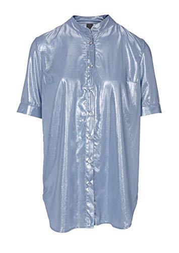 Heine - Best Connections Damen Longbluse, blau, Größe:36