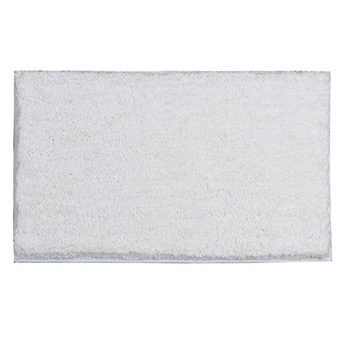 Badmat absorberend, voor badkamer, dik, absorberend, antislip, voetkussen, rechthoekig, 50 x 80 cm, wit