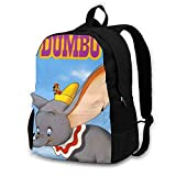 DJNGN Mochila Dumbo Mochila Escolar Mochila de Viaje Hombre Mujer Adolescente Azul