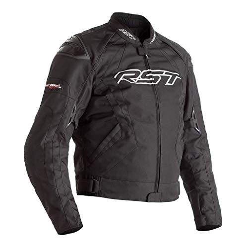 RST Tractech Evo 4 CE Herren schwarze Textil Motorradjacke EU62
