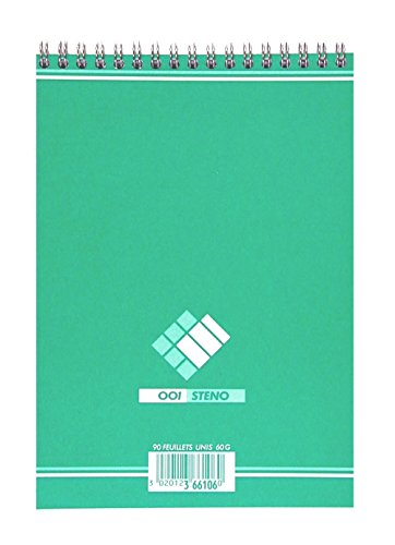 Hamelin 001 Lot de 10 Blocs Steno Spirale A5 - 180 pages - uni