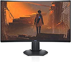 Dell 144Hz Gaming Monitor 27 Inch Curved Monitor with FHD (1920 x 1080) Display, Nvidia G-Sync and AMD FreeSync HDMI, DisplayPort, VESA Certified, Gray - S2721HGF