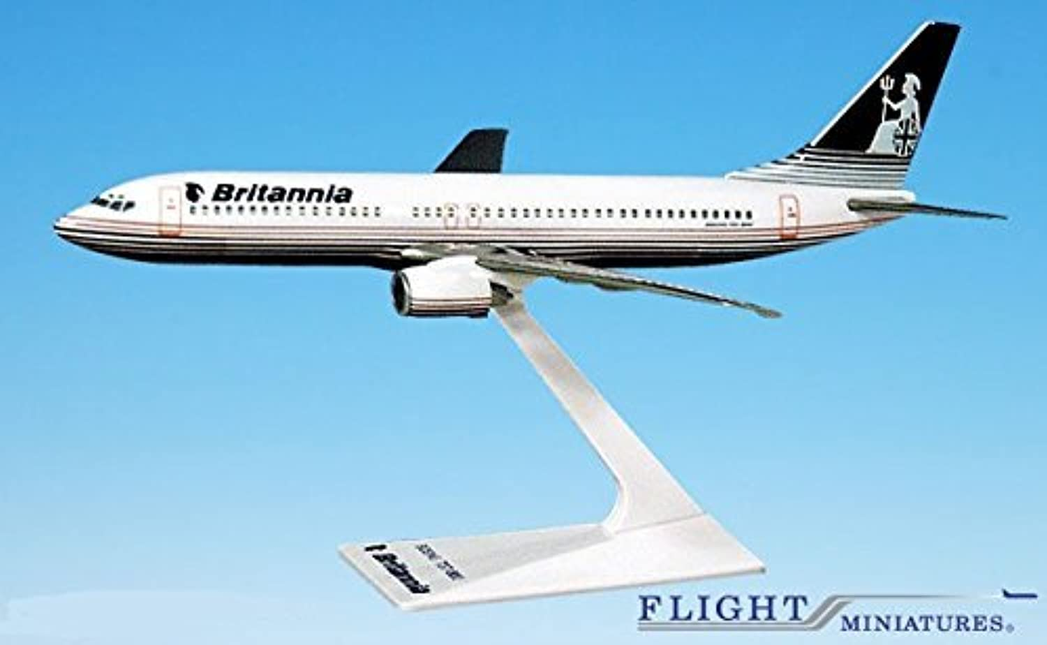 Britannia (OC) 737800 Airplane Miniature Model Plastic SnapFit 1 200 Part  ABO73780H013