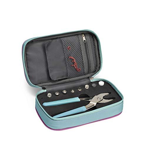 Prym Case 612409 Love Valigetta per pinze e Accessori Vario, Poliammide, menta, 13,5 x 22,5 x 5 cm