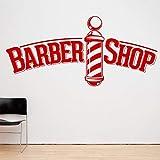 Tianpengyuanshuai Barber Shop Vinilo calcomanía Polo Logo Barber Pegatinas de Pared decoración del hogar decoración de la Sala 42X59cm