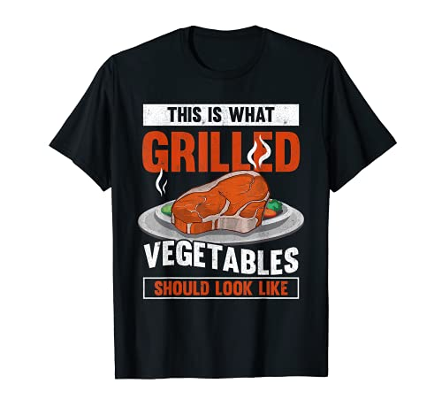 Grilled Vegetables Steak Funny Grilling Barbecue Party BBQ T-Shirt