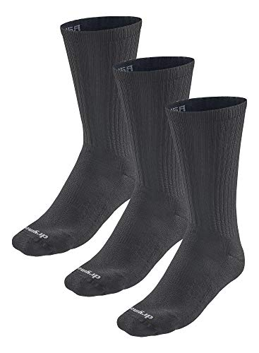 Drymax R-Gear Crew Socks for Men and Women (3 Pack) | Super Breathable Keep Feet Dry, Comfy and Blister-Free, L, Black, MediumCushion