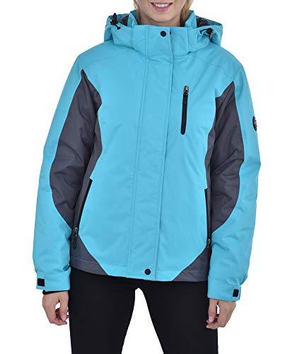 Swiss Alps Womens Insulated Waterproof Performance Winter Ski Jacket Coat, Blue Bird, XL