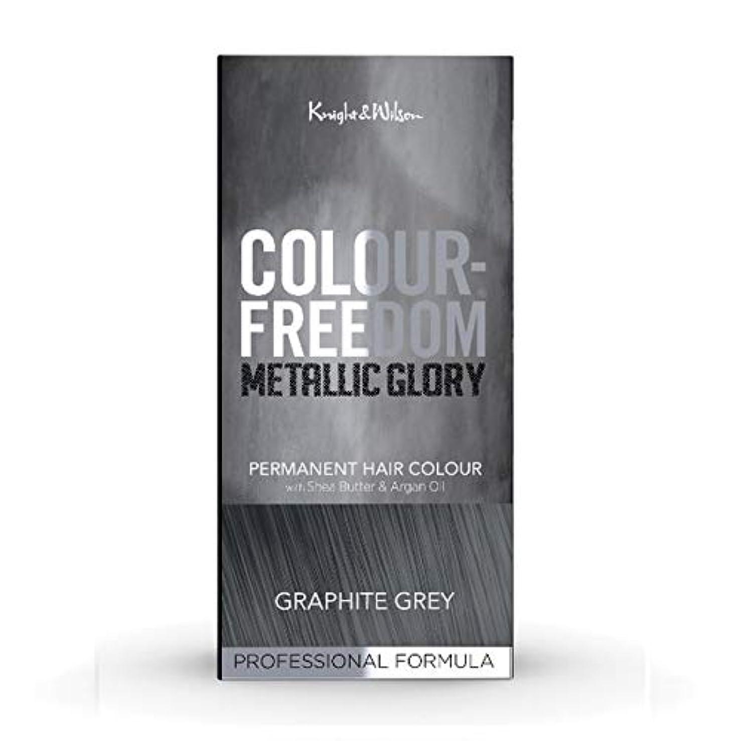 暴力的な略す出演者[Colour Freedom ] 色自由金属栄光グラファイトグレー617 - Colour Freedom Metallic Glory Graphite Grey 617 [並行輸入品]