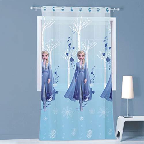 Disney Gardine Vorhang Fertiggardine Frozen 2 ELSA Anna 140 x 240 cm