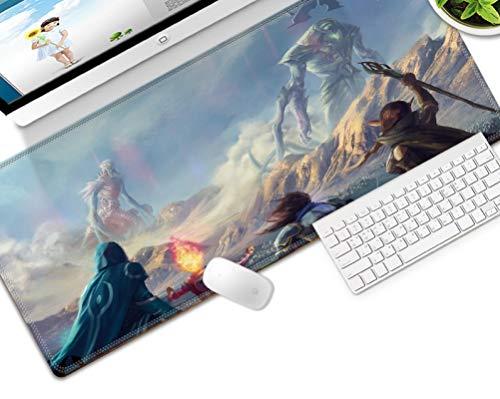 STDNJQ tapete escritorio mousepad Monstruo de dibujos animados de paisaje de cielo de montaña 800x300x3mm/31.5x11.8x0.118 inch con base de goma antideslizante, superficie de textura especial,PC y alm