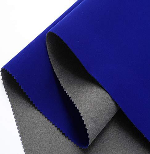 Forro autoadhesivo de terciopelo azul para cajones de joyería, manualidades, proyectos de manualidades, tela de terciopelo, forro de terciopelo de 43,9 x 199,9 cm