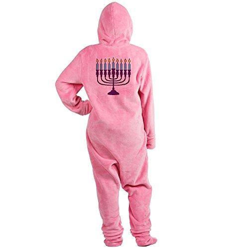 CafePress - Hanukkah Menorah - Novelty Footed Pajamas, Funny Adult One-Piece PJ Sleepwear