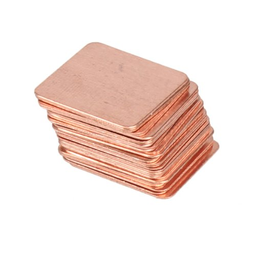 Pack of 30 Heatsink Copper Shim Thermal Pads 15mmx15mm for Laptop GPU CPU VGA