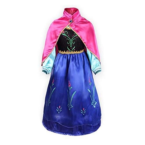 FONLAM Disfraz de Princesa Vestido de Fiesta Niña Traje de Ceremonia Infantil Carnaval (3-4 Años)
