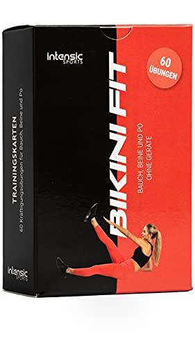 intensic SPORTS Trainingskarten - 60 Fitness-Übungen für Bauch Beine und Po - Trainieren ohne Geräte