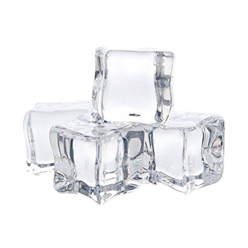 Haifly 12 Stk Klar Deko Acryl Eiswürfel Kunststoff Ice Transparent Für Whiskey Fotografieren Props Deko 3 cm