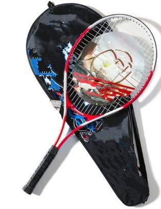 Aleación de Aluminio de la Raqueta de Tenis Raqueta de Tenis lightht Prueba de Golpes-Red