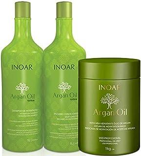 113df54eb Kit Inoar Argan Oil Shampoo + Condicionador 1 L + Mascara 1 Kg