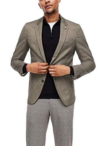 s.Oliver BLACK LABEL Herren Slim Fit: Tweed-Sakko brown tweed 94