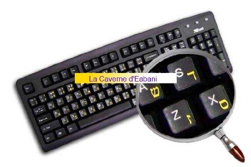 Hebräischer Tastatur Aufkleber, Selbstklebend, Transparent, Hebräischer Tastatur