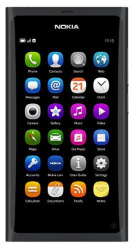 Nokia N9 Smartphone (9,9 cm (3,9 Zoll) Bildschirm, 64GB, Touchscreen, 8 Megapixel Kamera) [EU-Import] schwarz