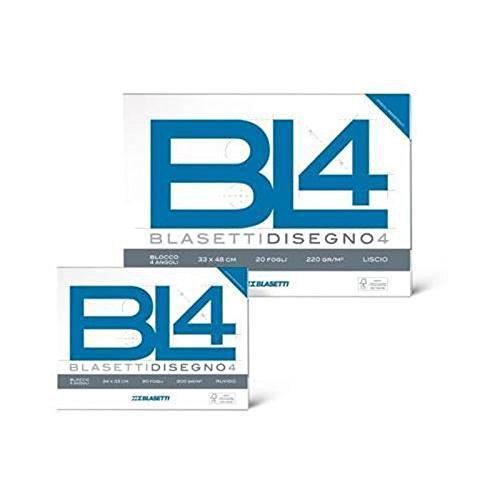 ALBUM DA DISEGNO BLASETTI BL4 33x48 CM 20 FF 200 GR LISCIO RIQUADRATO