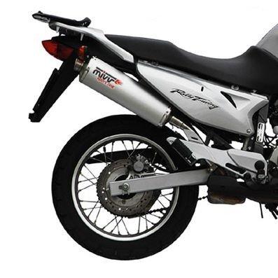 Escape Mivv Oval Honda Transalp 650 00-04 Acero inoxidable